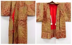 A set of hand-woven silk child's kimono with exquisite decoration - Japan - Mid 20th century