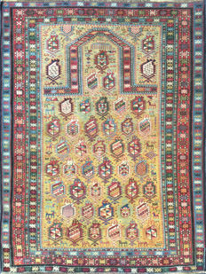 Antique shirvan marasali rug – Colour: gold – Measurements: 153 x 98 cm