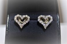 Tiffany & Co. Platinum Tiffany earrings with 16 diamonds per earring - approx. 1.0 cm for each earring