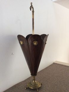 Copper umbrella stand, first half of the 20th century, classical style