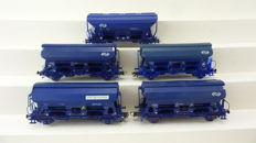 Roco H0 - 46419/46426/46248 - 5 self-discharging wagons of the NS