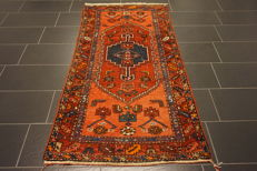 Unique antique Persian carpet Malayer Excellent wool natural dyes made in Iran 100 x 200 cm