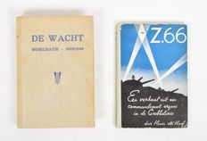 Bound weekly magazine De Wacht complete set of 25 editions + Z.66. A story from a command post somewhere in the Grebbe line - 1938/1940