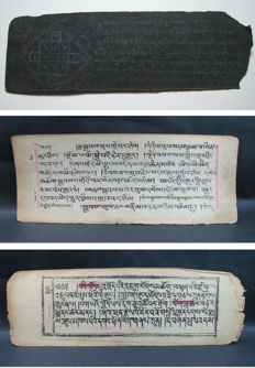 A Burmese manuscript and two Tibetan Sutra's - Burma and Tibet - 18th and late 19th centuries