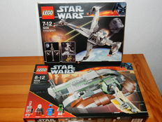 Starwars - 6208 + 6209 - B-wing Fighter + Slave I (2nd edition)
