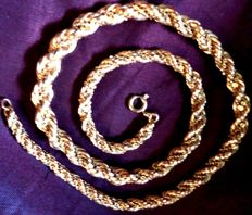 18 kt gold necklace (weight 41.10 g)