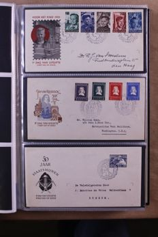 The Netherlands 1951/1975 - Complete collection of FDCs E6/E139 in Davo lx album