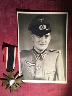 War Merit Cross and military photo