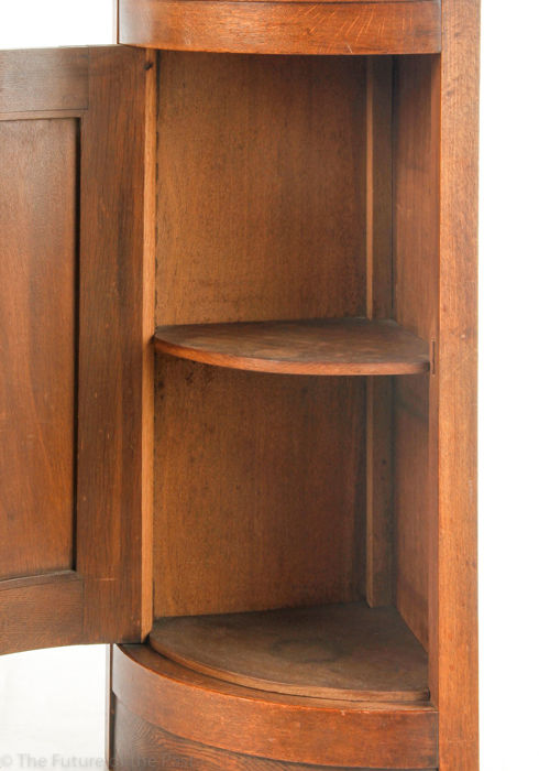Standing Corner Cabinet With Round Door And Carved Decoration Including Key Catawiki