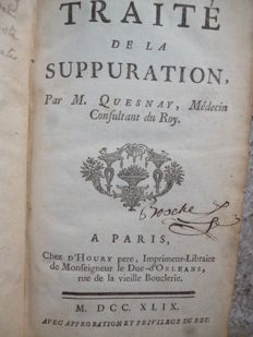 M. Quesnay - Traité de la suppuration - 1749