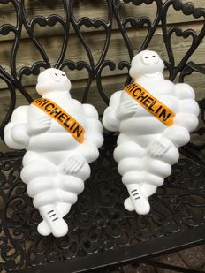 "Two beautiful ""Bibendum"" dolls by Michelin tyres, from the 90s."