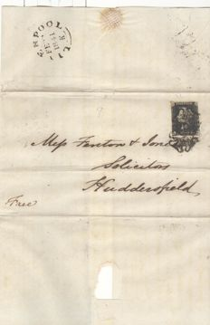 Great Britain 1841 - Penny Black on cover letter
