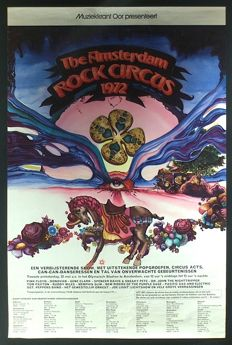 Festivalposter The Amsterdam Rock Circus 1972