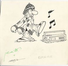 "Jacovitti, Benito and Bajalica, Nedeljko - original character drawing for ""Rap"" (1995)"