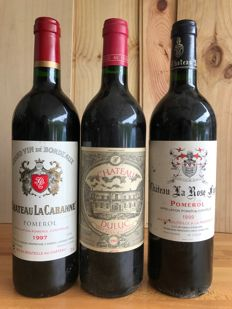 1997 Chateau La Cabanne , Pomerol - 1 bottle 75cl and 1993 Chateau Duluc  , Saint Julien - 1 bottle 75cl and 1999 Chateau La Rose Figeac  , Pomerol - 1 bottle 75cl