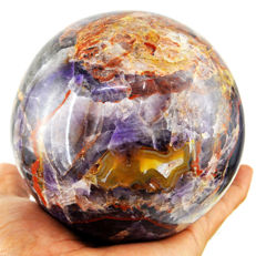 "Top Color Rare Chevron Amethyst ""healing ball"" - 100 mm - 1359 gm"