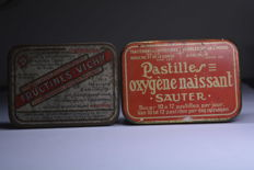 Fructine-Vichy and pastilles oxygène Naissant, blood purifying bonbons and throat pastilles - 1930