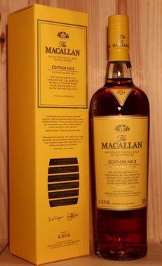 The Macallan Edtion No 3, Limited Edition, 700ml, 48,3%vol. incl. original Box, the shipping from Germany