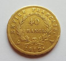 France - 40 francs 1812A (Paris), Napoleon I - gold