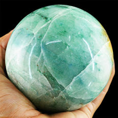 "Very Fine Green Aventurine ""healing ball"" - 90 mm -1010 gm"