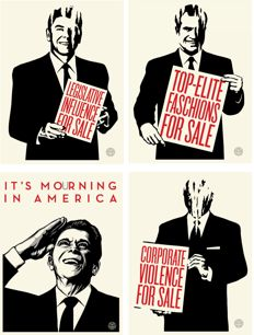 Shepard Fairey (OBEY) - Reagan and Friends Series (Set of 4 Prints)