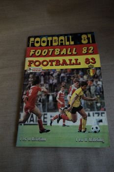 Panini - Belgium football championships 81 / 82 / 83-3 complete albums.