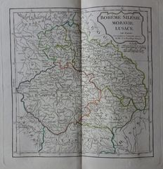 Central Europe; Robert de Vaugondy / Delamarche - 3 copper engravings - ca. 1805