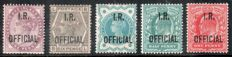 Great Britain Queen Victoria - IR official stamps 1882/1902 - small selection