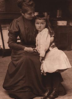 Louis Guichard (?-1934) - Mother and Daughter, 1890's