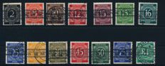 Allied manning (American and British zone) - 1945-1949 special collection with tubeworm prints on numbers values