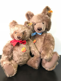 Vintage set of beautiful large Steiff original Teddy Bear - 0202/41 and 0202/51 - Germany