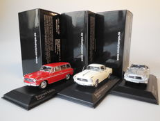 Minichamps - Scale 1/43 - Lot with 3 Borgward models