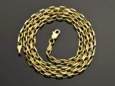 18k Gold Necklace. Chain - 50 cm. Weight 5.14 g. No reserve price.