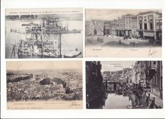 Lot with 160 postcards, small format, The Netherlands, many with old topography