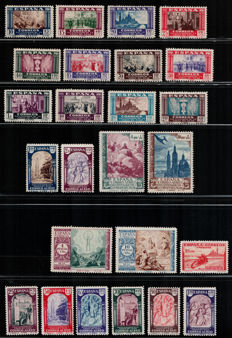 """Spain, collection of stamps from 1940 - """"Virgen del Pilar"""" – Edifil 889/913"""