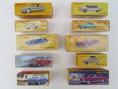 Atlas-Dinky Toys - Scale 1/43 - Lot with 10 models with LOS Certificate and Type Brochure