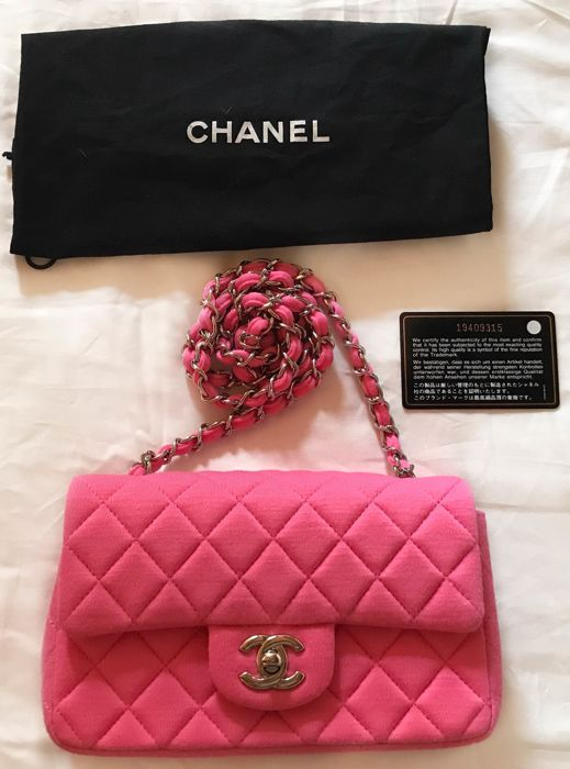 0a2b83a72dad Chanel - Jersey Mini Classic Flap Bag - Catawiki
