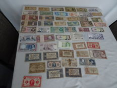 World - 53 banknotes from various countries, various values - 1918-1995 - Including 16 x Netherlands