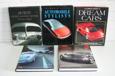 Collection of 5 car books about design/designers
