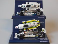 Minichamps - Scale 1/43 - Lot with 2 x Williams Ford FW07 1980