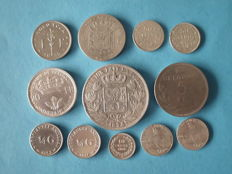 Belgium, The Netherlands and Dutch Antilles - various coins 1880/1962, 12 pieces - silver