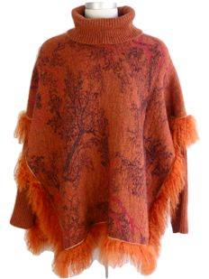 Kenzo Jungle – Poncho – finished with Mongolian lamb