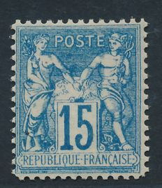 France 1878 - Sage Type I faux de chalon signed Calves - Yvert n° 90f