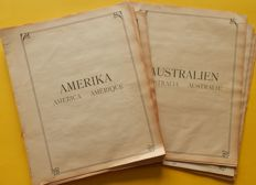 America and Australia and colonies 1860's/1930's - Collection on old Schwanenberger pages