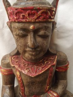 Buddha made of wood (60 cm) - Burma - second half 20th century
