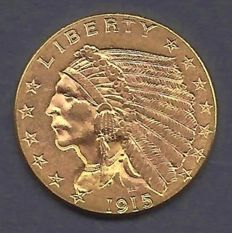 United States - 2 1/2 dollars 1915 Liberty Head - Gold