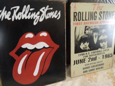 Two Big - Iconic - Rolling Stones - Memorail Signs - Metal - With Extra New Rolling Stones Cd -