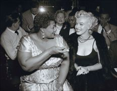 Bettmann/CORBIS - Marilyn Monroe, Ella Fitzgerald, Hollywood, 1954