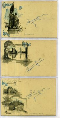 Belgium - city/village views - with lithographic cards - 1896-1916, 70x cards