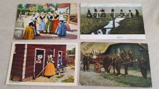 Lot with only traditional costume postcards 112x
